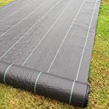 Yuzet 5 x 10 m 100 g Heavy-Duty Weed Control Ground Cover Membrane Landscape Fabric