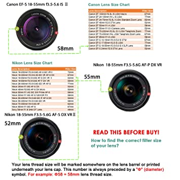 2-Pack 55mm Center Pinch Lens Cap for Nikon,Canon,Sony DSLR Camera GAOAG