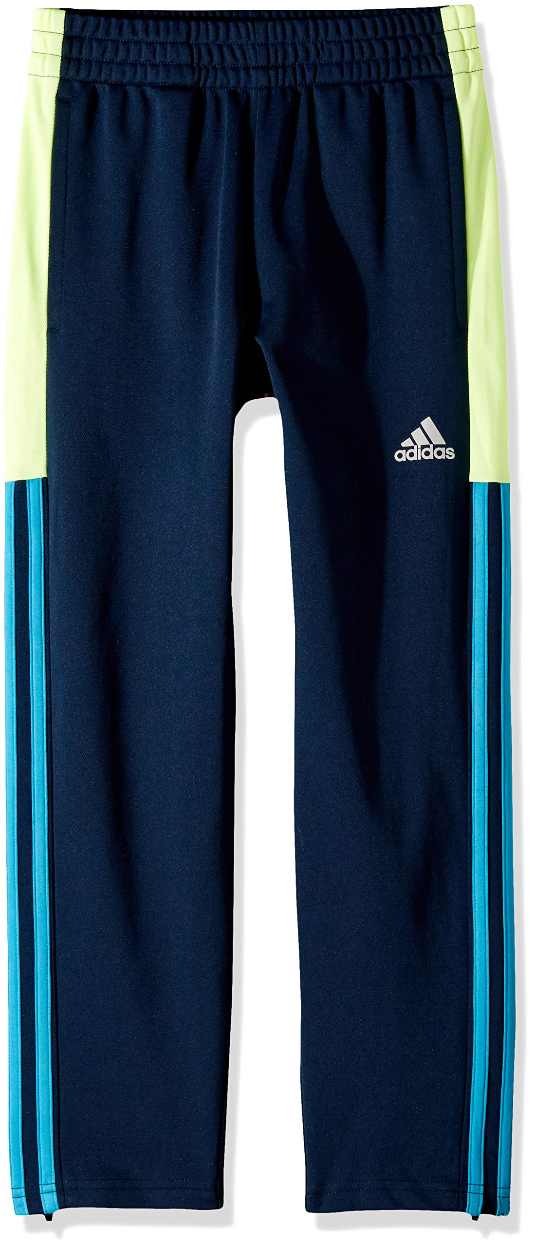 adidas Boys' Big Tapered Trainer Pant, Striker Navy/Yellow, M (10/12)