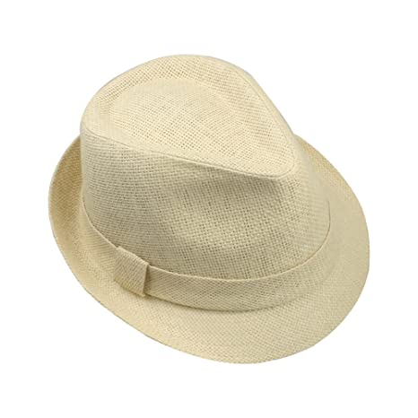 Amazon.com  Adorna Chic CHAPAU Luxury Women s Straw Fedora Hat Short Brim -  Natural Size Medium  Sports   Outdoors 4c19e1e2bf2