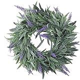"Northlight 10"" Artificial Dusty Purple Decorative Springtime Wispy Lavender Wreath"