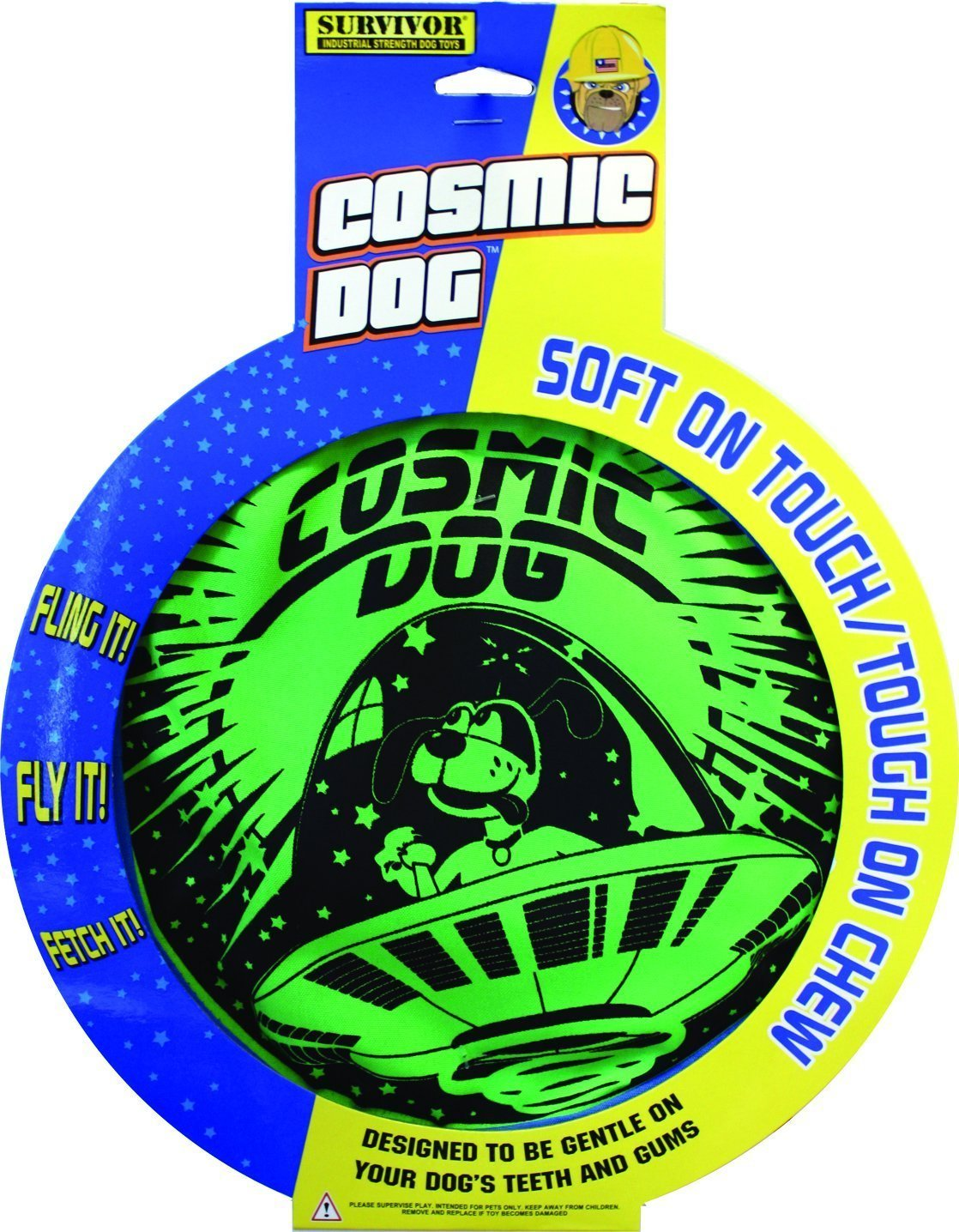 Cosmic Dog American comic-style flying disc (Frisbee) [parallel import goods]