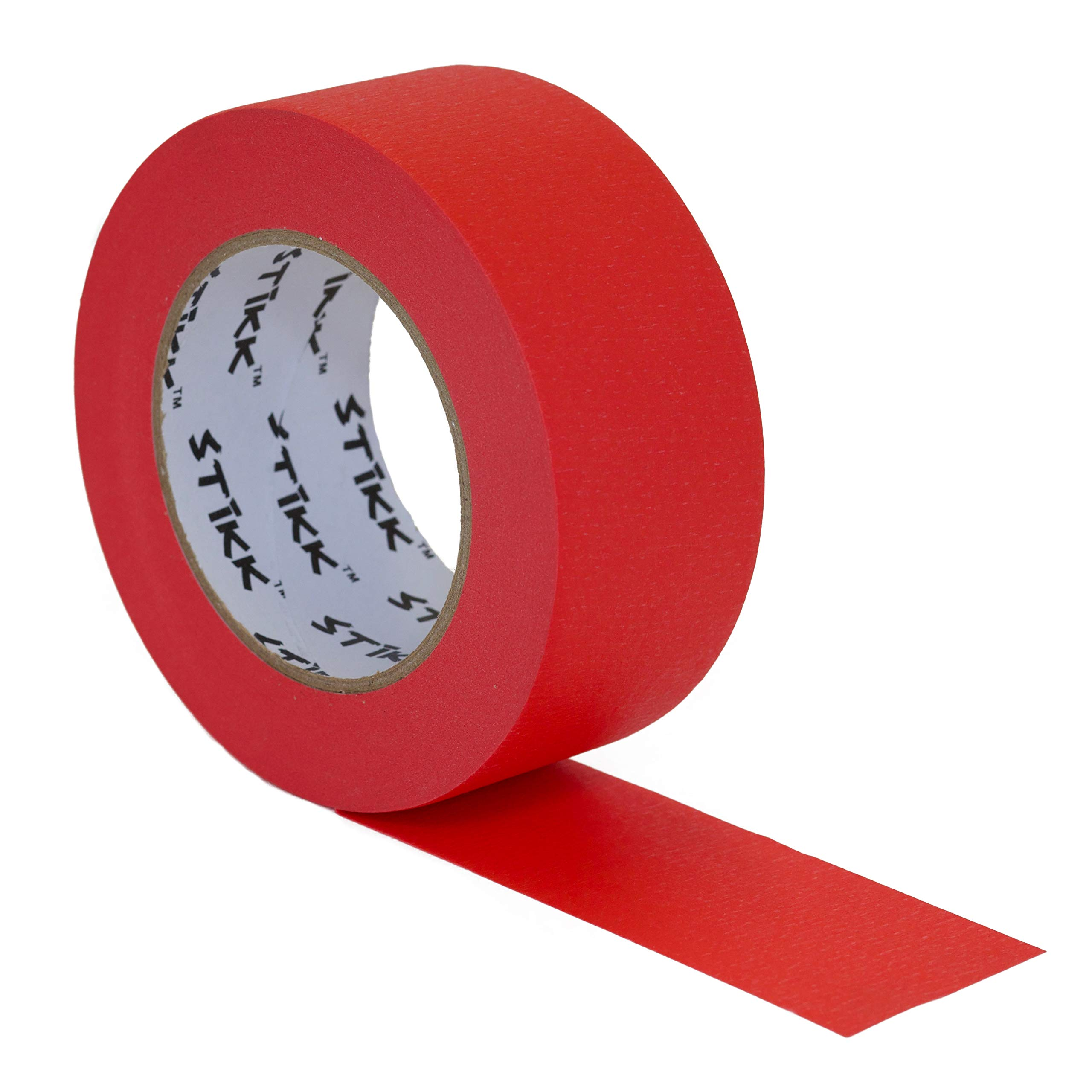 2'' inch x 60yd STIKK Red Painters Tape 14 Day Clean Release Trim Edge Finishing Decorative Marking Masking Tape (1.88 in 48MM)