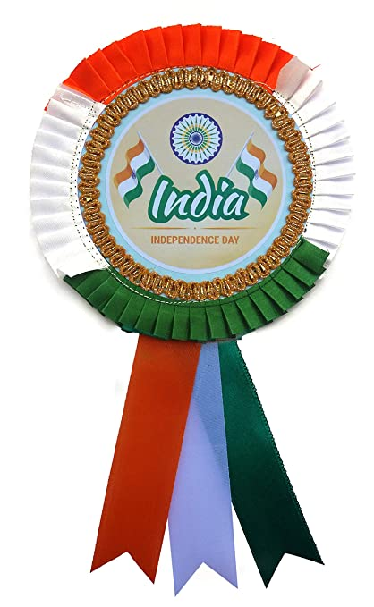 Buy LTM Happy Independence Day Ribbon Badges 3colour (Pack