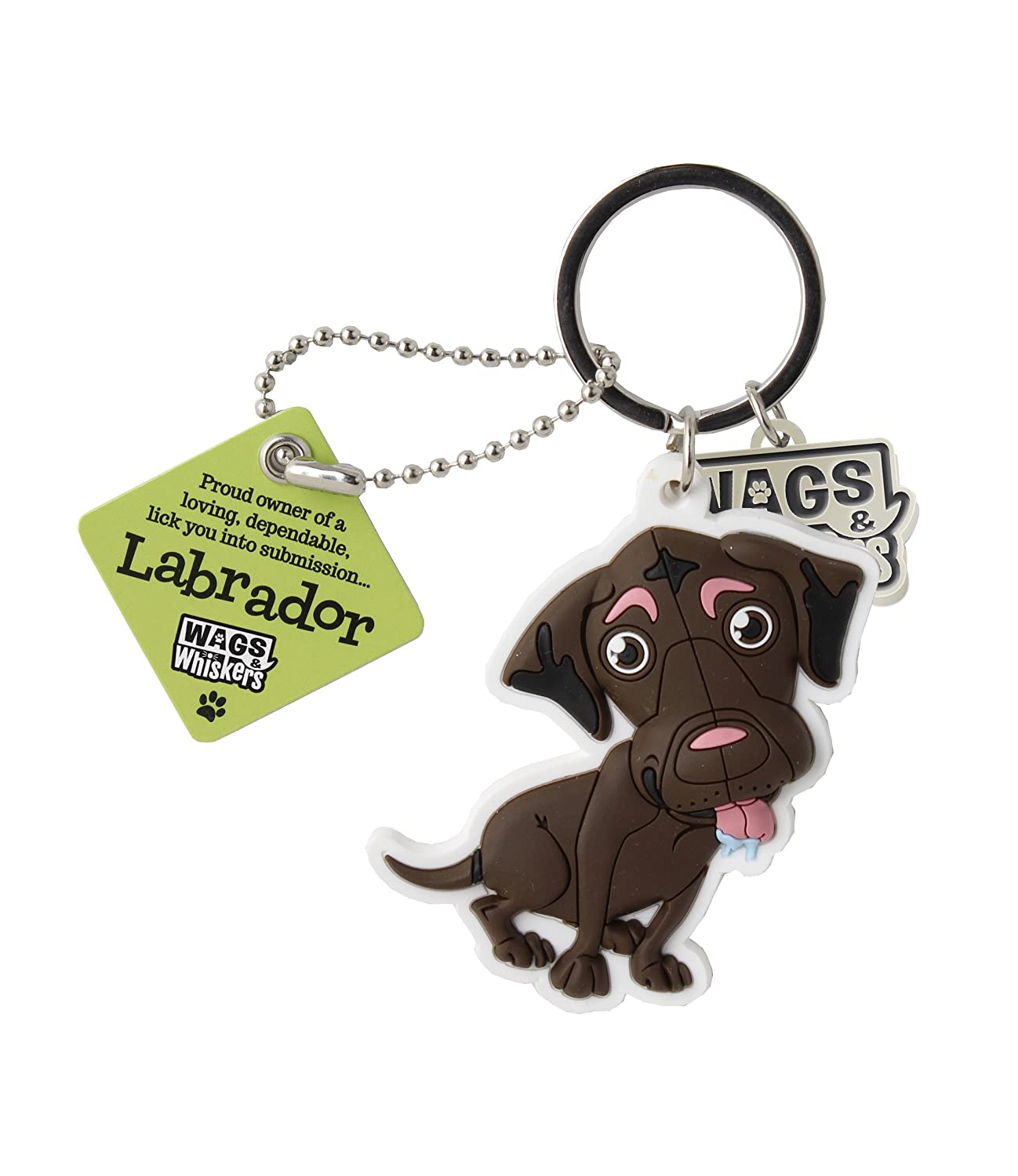 """Cream /"""" by Paper Island Wags /& Whiskers Dog Key Ring /""""Labrador"""