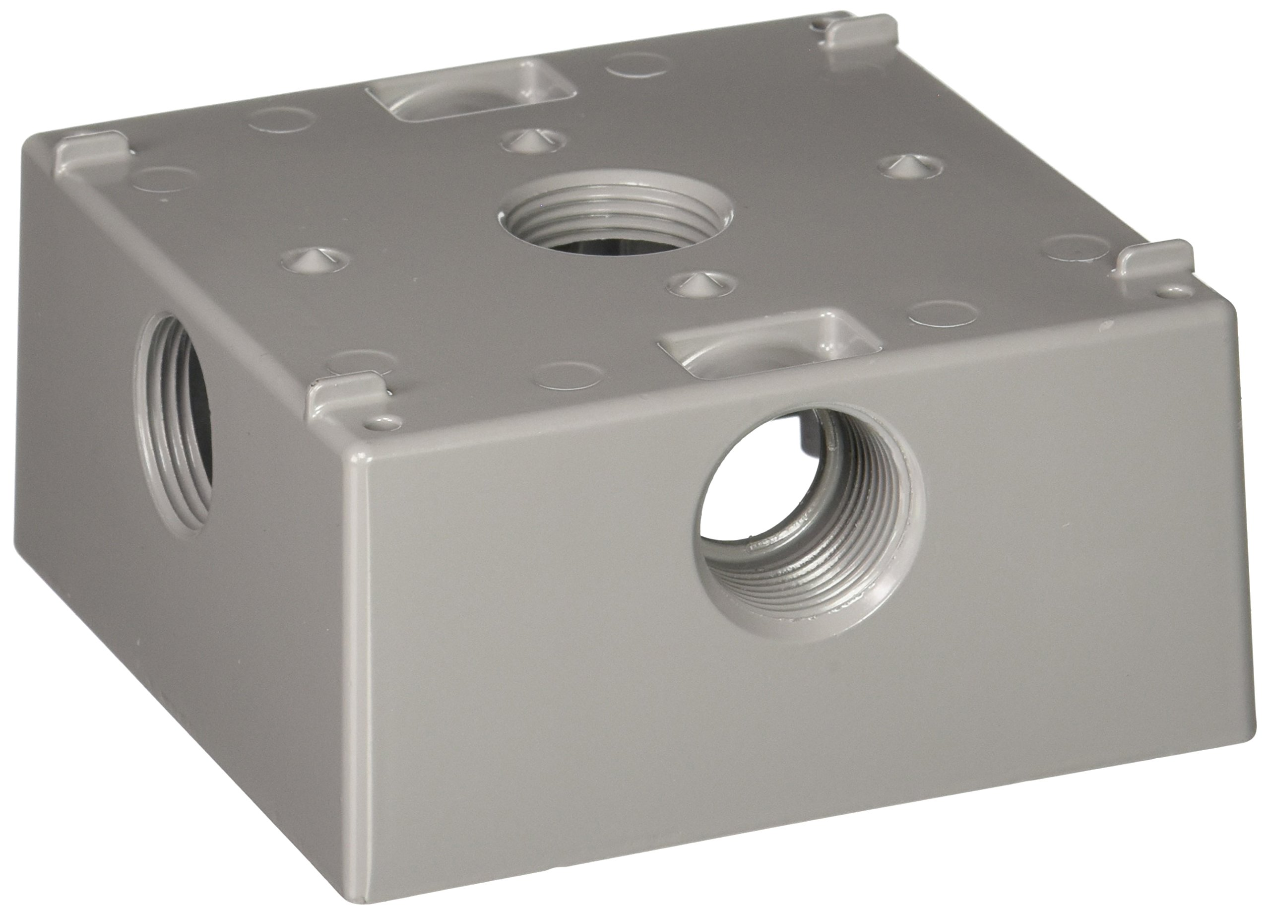 Hubbell-Bell 5342-0 Two Gang 5-3/4-Inch Outlets Weatherproof Box