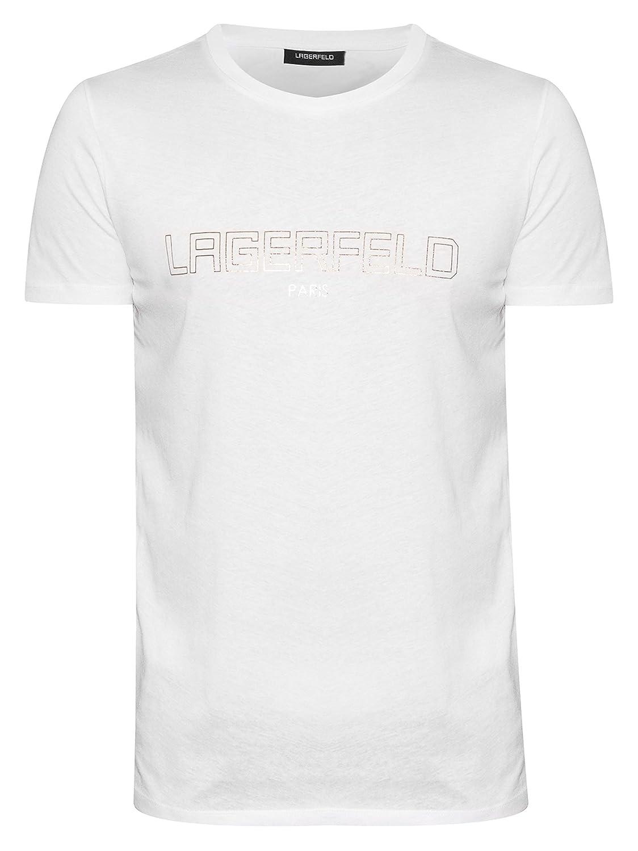 Lagerfeld Weiß Chest Logo T-Shirt