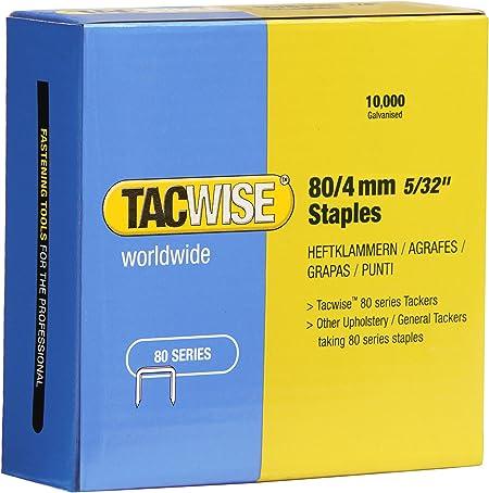 Tacwise 0340 Bo/îte de 5000 Agrafes galvanis/ées 6 mm Type 140