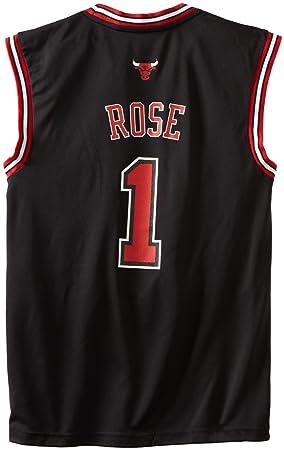 Adidas NBA Chicago Bulls Derrick Rose suplente réplica de la Camiseta Negro, Hombre, 7818A3B5AEB1062, Chicago Bulls, X-Large: Amazon.es: Deportes y aire ...
