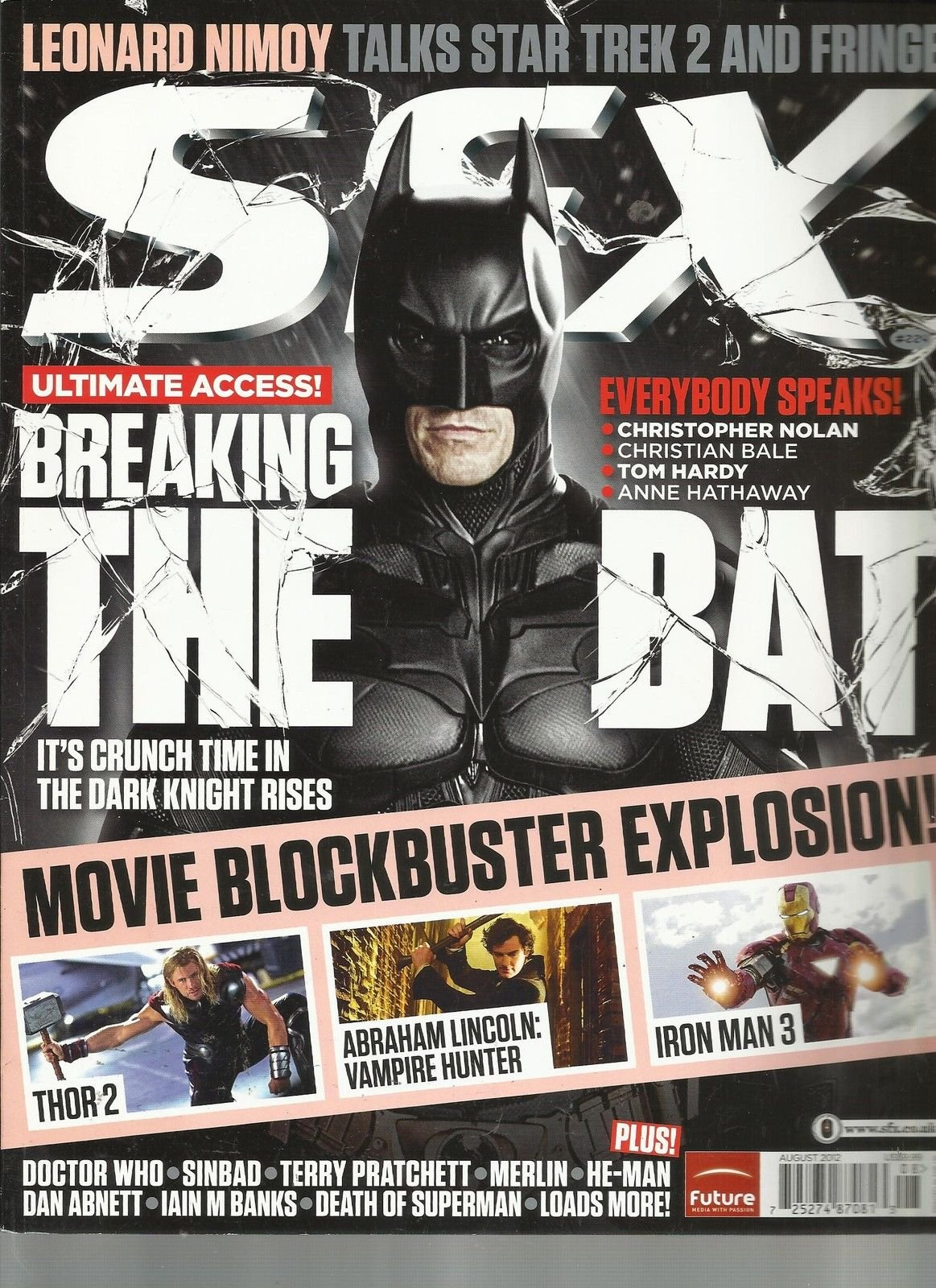 SFX # 224 AUGUST, 2012 ( BREAKING THE BAT ) MOVIE BLOCKBUSTER EXPLOSION