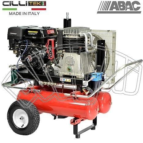 motocompressore 9 HP 22 + 22 Lt – gasolina arranque eléctrico Compresor Aire