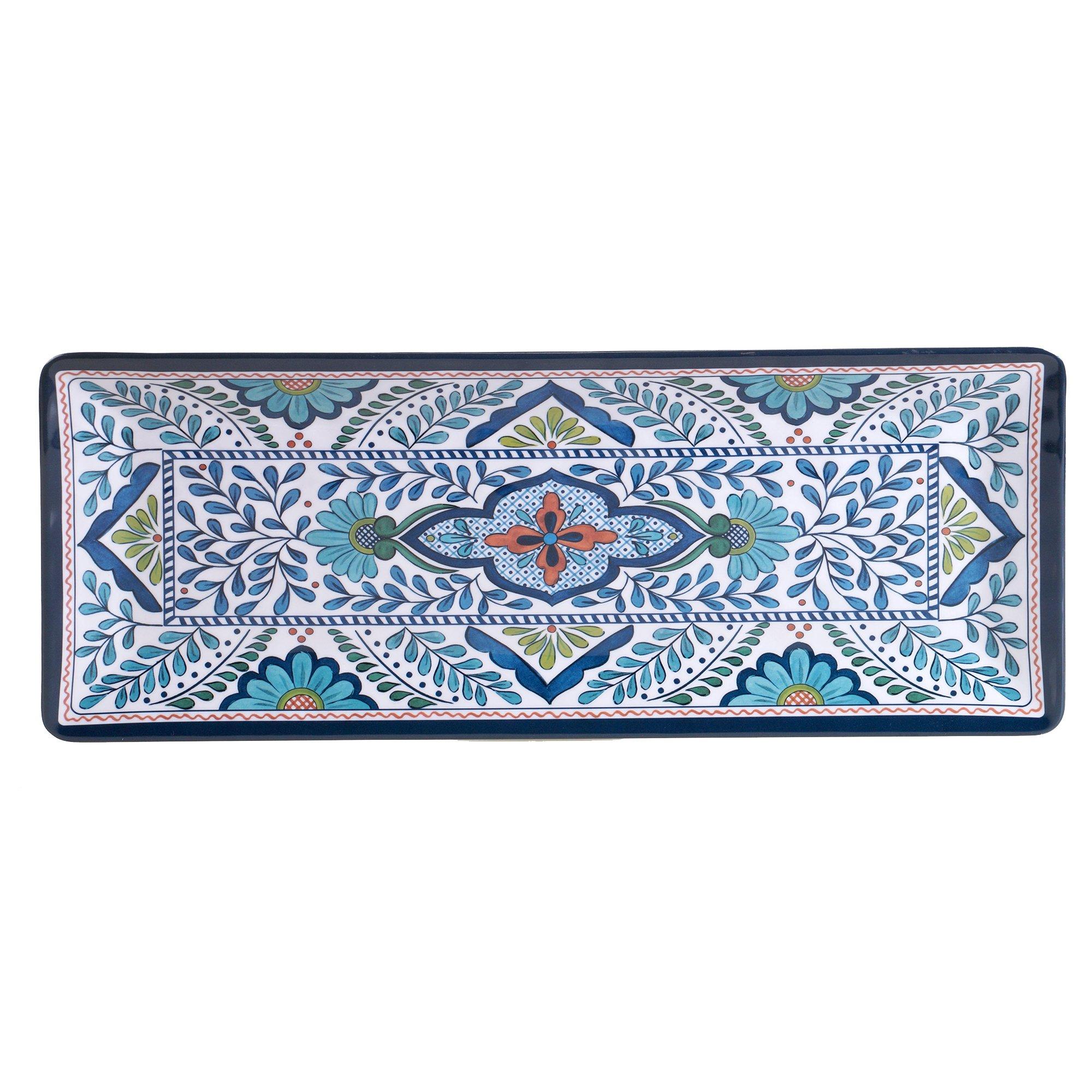 Certified International Talavera Melamine 19'' x 8'' Rectangular Platter, Multicolor
