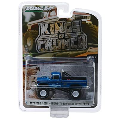 Greenlight 1:64 Kings of Crunch Series 3-1974 Ford F-250 Monster Truck (Blue) 49030-A: Toys & Games