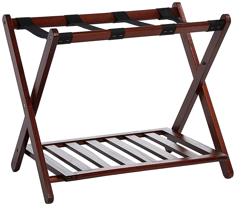 Casual Home Luggage Rack, Walnut 102-23
