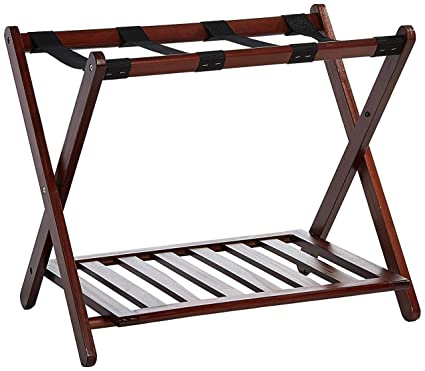 Gentil Casual Home Luggage Rack With Shelf