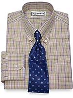 Paul Fredrick Men's Non-Iron Cotton Check Dress Shirt