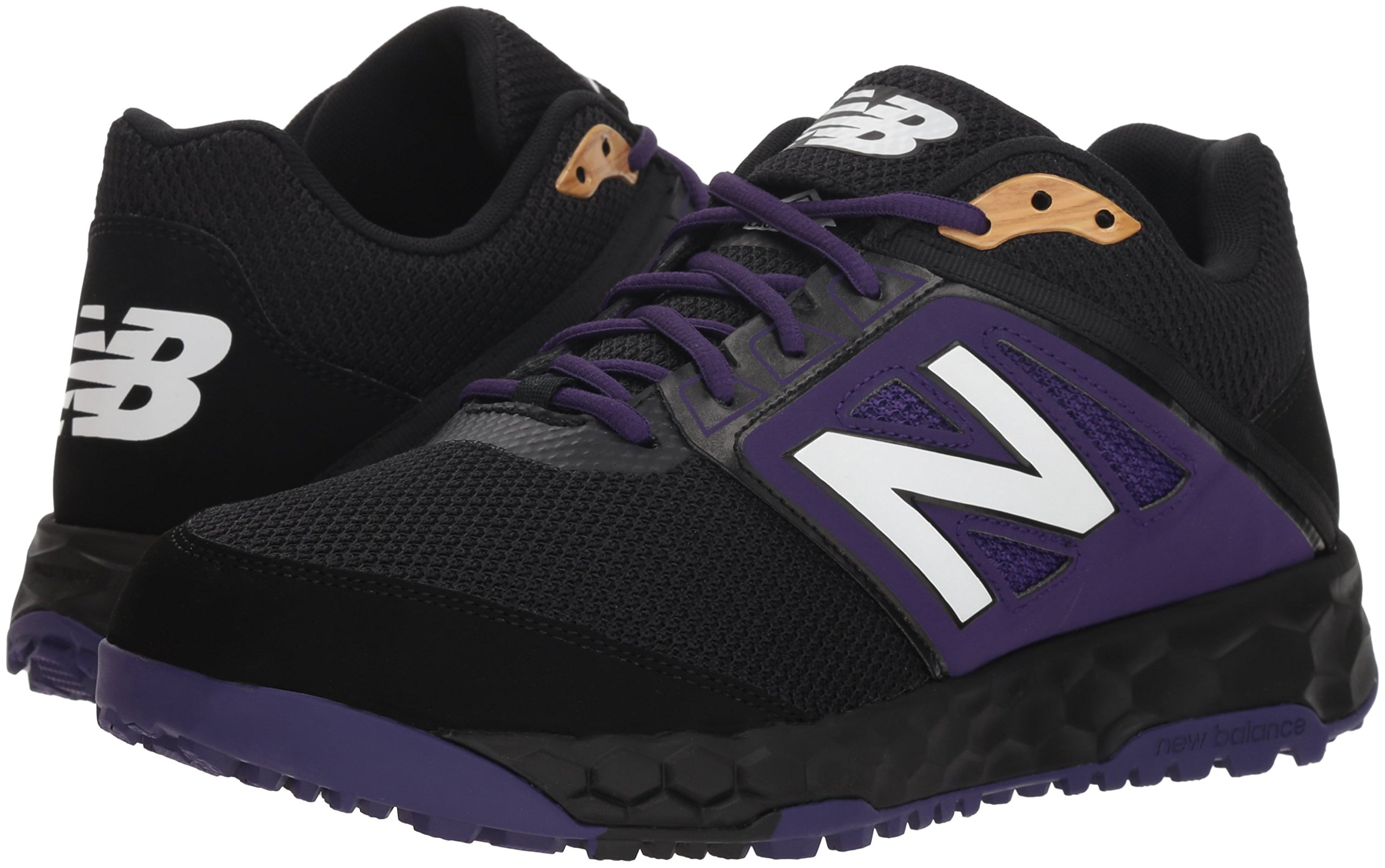 New Balance Men's 3000v4 Turf Baseball Shoe, Black/Purple, 5 D US by New Balance (Image #5)