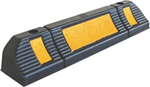 """Parking Stopper for Garage Floor, Blocks Car Wheels as Parking Aid and Stops The Tires, Acting as Rubber Parking Curbs That Protect Vehicle Bumpers and Garage Walls, 23.6""""x4.7""""x3.9"""" (Pack of 1)"""