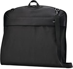 Samsonite Flexis Softside Luggage, Jet Black, Garment Sleeve