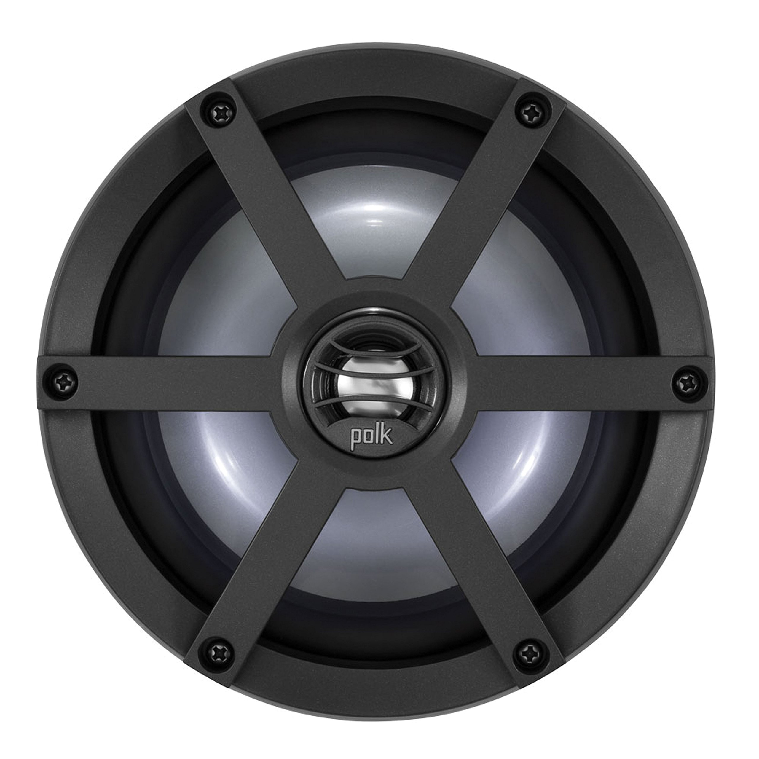 POLK AUDIO UM650SRTL Coaxial Speaker Kit with Sport Grille and LED Light Ring - 6.5'',2 Pack