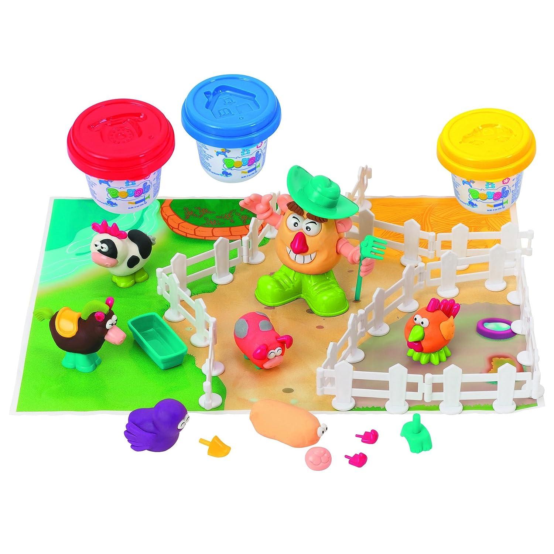 Playgo plastilina AGRICULTOR Y AMIGOS (3 colores de plastilina Incluidos)