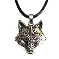 Wolf head Necklace Fox Jewel Viking - Animal Totem of Courage and Strength - Tribal Symbol Celtic Rune Hunting - Original Gift Unisex Man