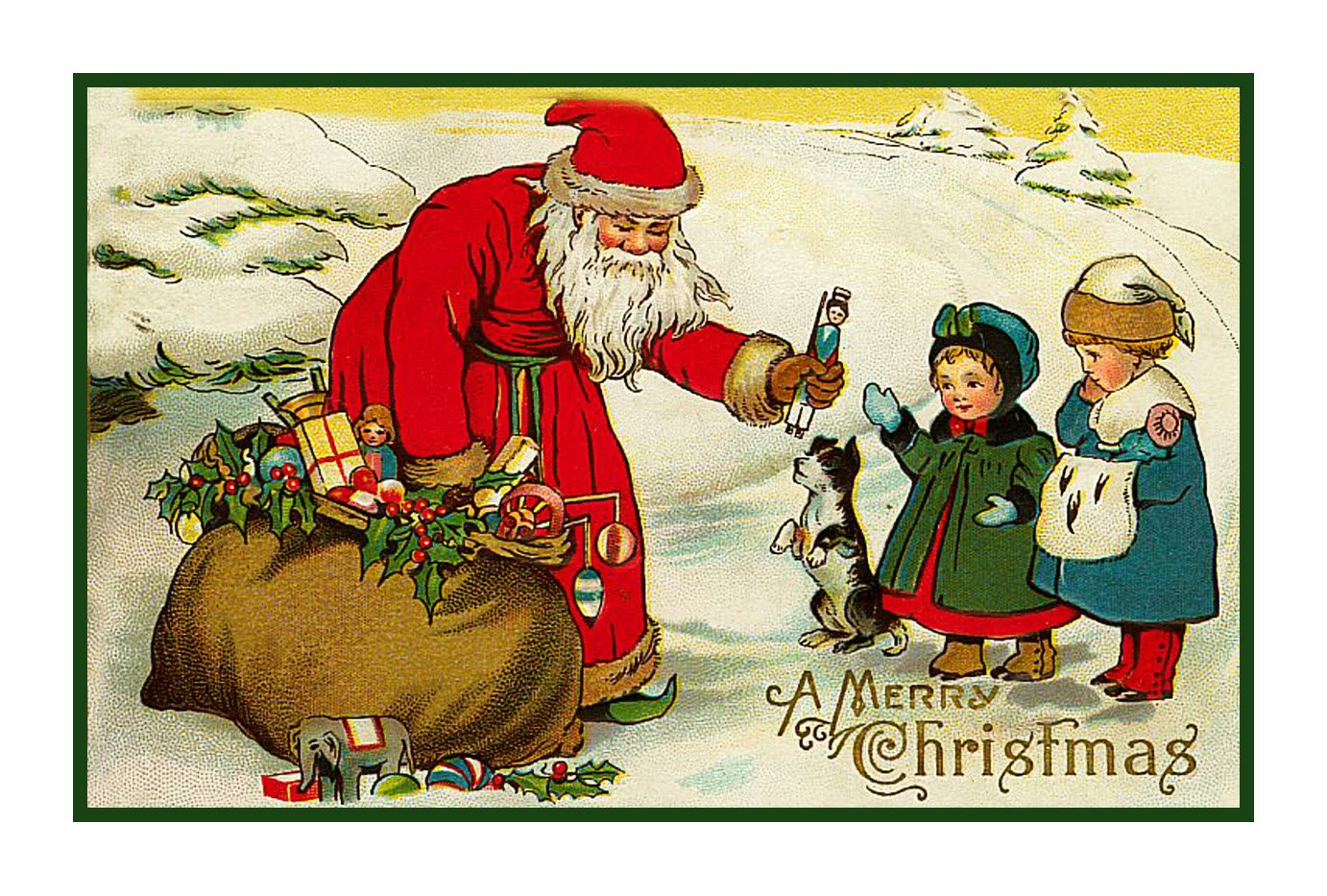 Image result for victorian santa with gifts
