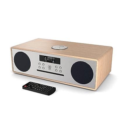 Oakington DAB/DAB+ Digitales Radio, CD-Player, Bluetooth, Stereo-Lautsprechersystem, Fernbedienung, Dual USB Eingang/Aufladen