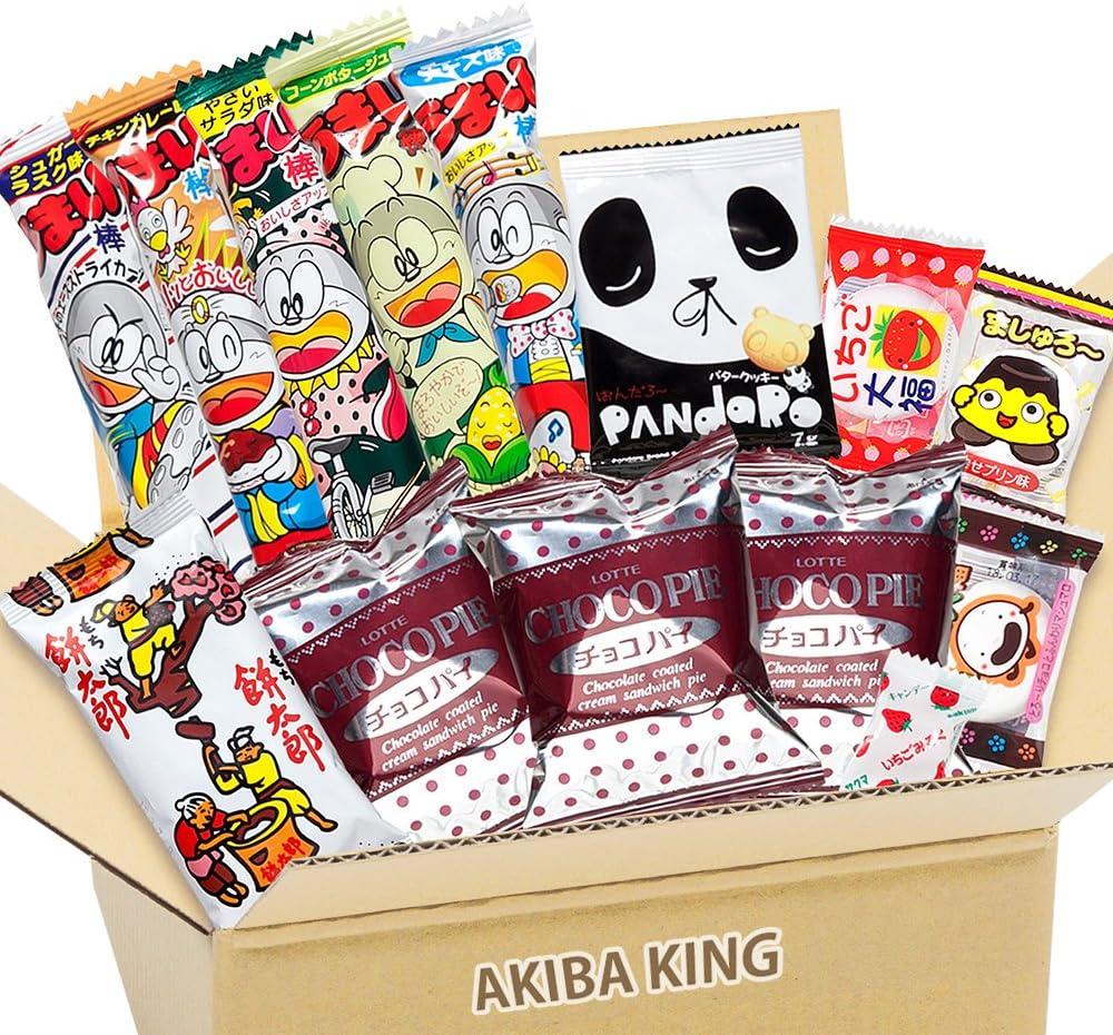 Choco Pie chocolate y snack japonés DAGASHI con adhesivo AKIBA ...