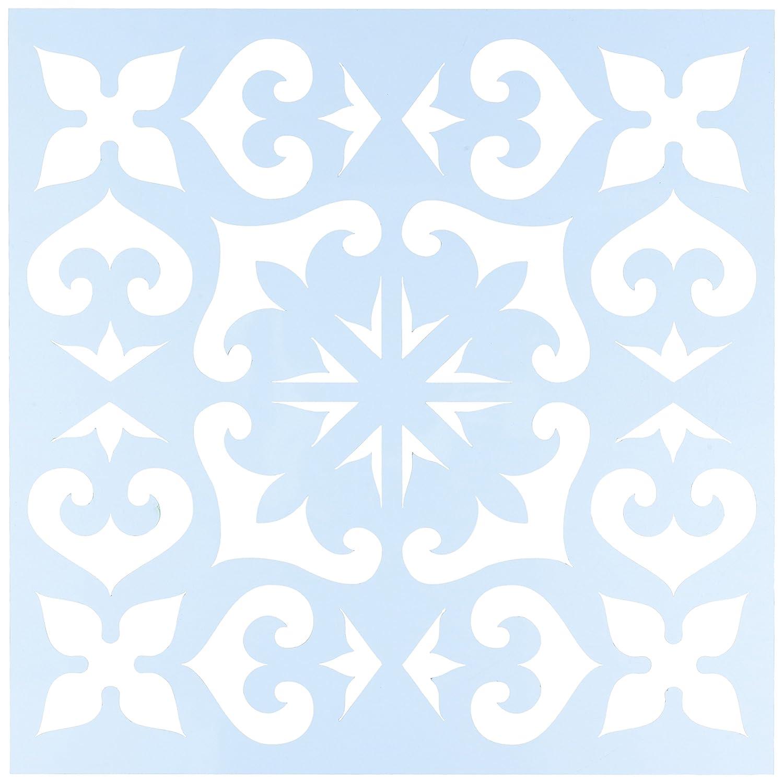 CLEARSNAP Clear Scraps CSSMMEXTILE12 Stencils, 12 x 12, Mexican Tile, Blue 12 x 12