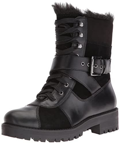 Nine West Womens Orithna Leather Boot Black