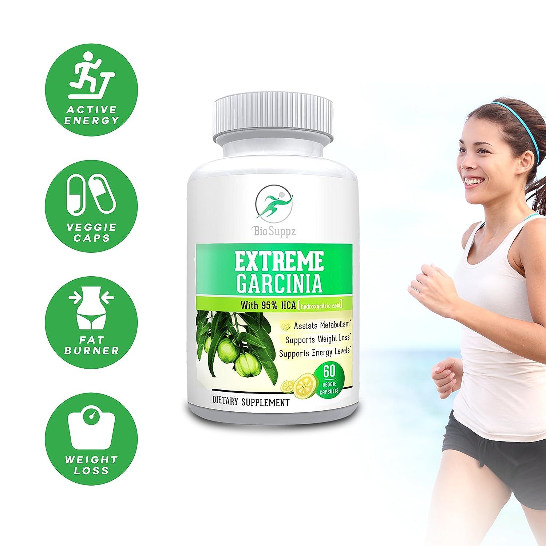 BioSuppz Garcinia Cambogia, 100 Pure 95 HCA, Weight Loss Pills Fat Burner Diet Pills Appetite Suppressant Natural For Women Men Healthy Organic 1400mg One Month Supply