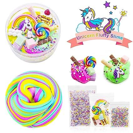 Amazon.com: Juego de 4 colores, diseño de unicornio Slime ...