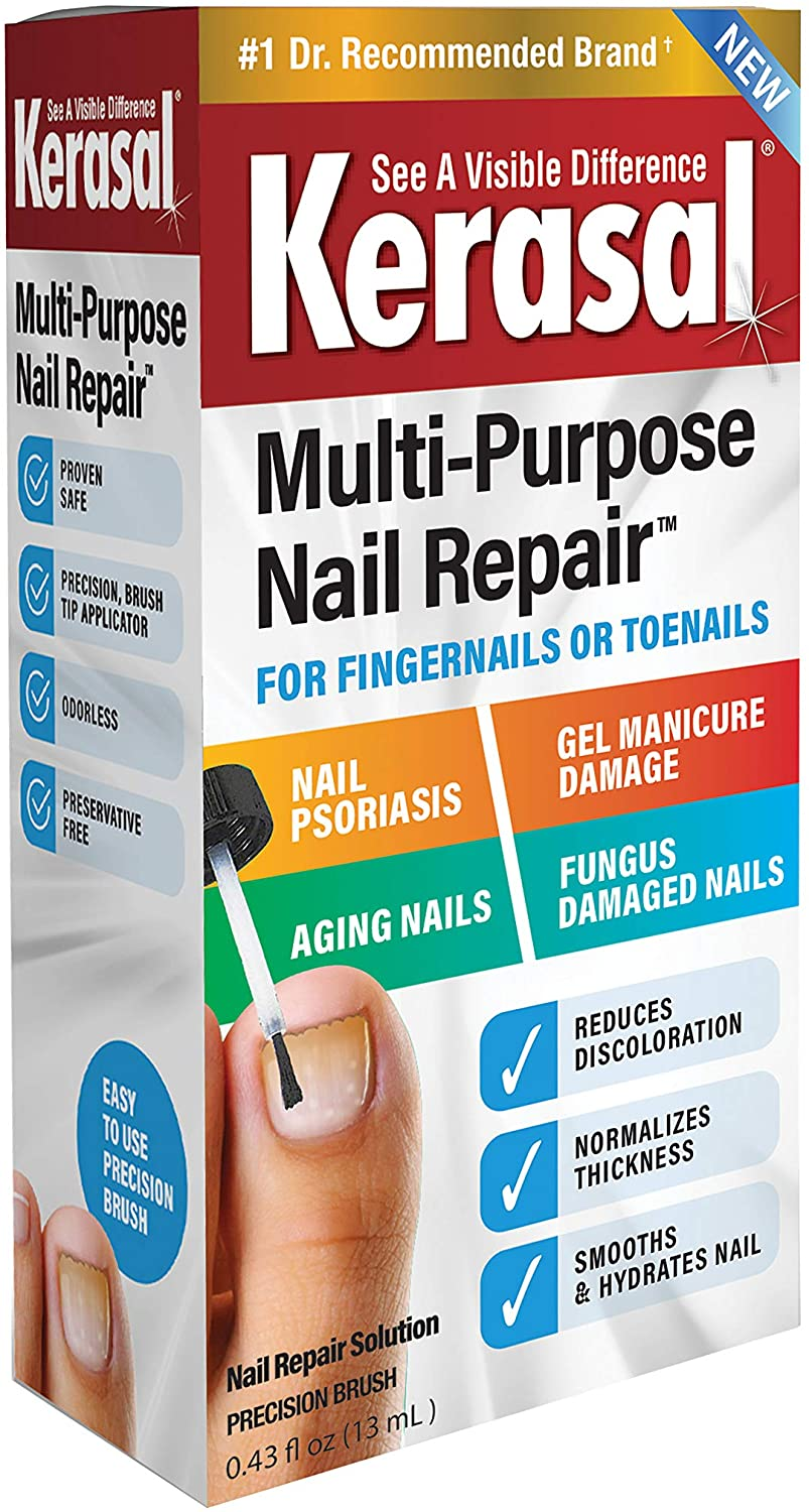 Kerasal Multi-Purpose Nail Repair 13ml, Nail Treatment Improves The Appearance of Damaged or Aging Nails. Packaging May Vary