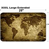 MSD Large Table Mat Non-Slip Natural Rubber Desk Pads Background Made with Old Textured Paper with a World map Image 2155717 Customized Table