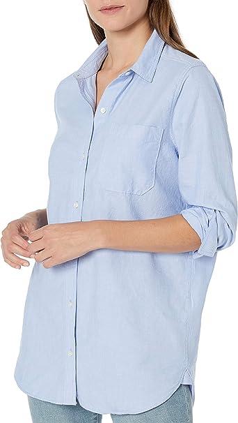 Marca Amazon - Goodthreads Washed Oxford Long-sleeve Boyfriend Shirt - button-down-shirts Mujer: Amazon.es: Ropa y accesorios