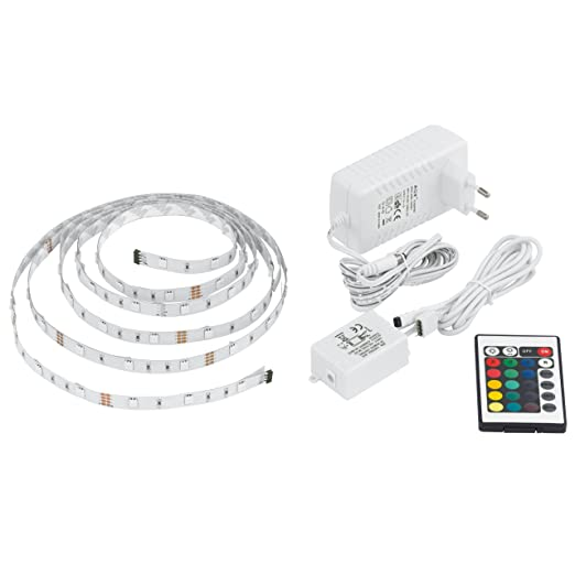 EGLO 13533 - Lámpara de Barra LED acortable, fabricada en plástico, incluye cable,