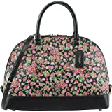 Coach Women's Sierra Satchel in Posey Cluster Floral Print Coated Canvas, Style F57622