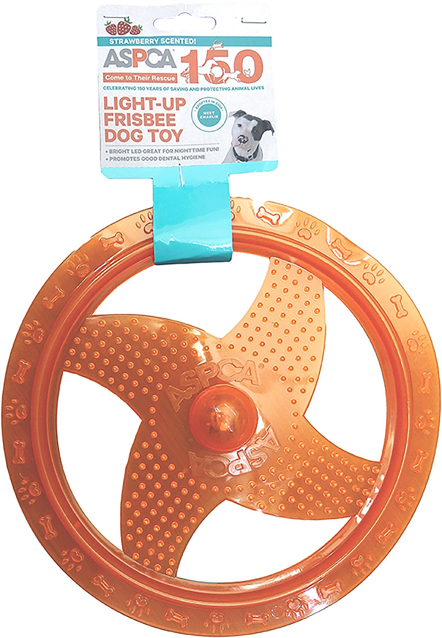 Bow Wow Pet ASPCA Light-Up Frisbee Dog Toy-Orange