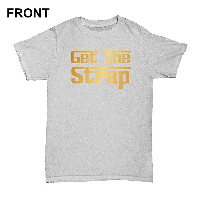 74b8b32d5b9a7f RoyalTeesUK Mens T Shirt 50 Cent Get The Strap: Amazon.co.uk: Clothing