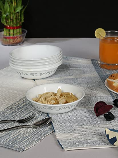 Corelle Livingware Country Cottage Veg Dessert Bowl Set, 290ml, Set of 6