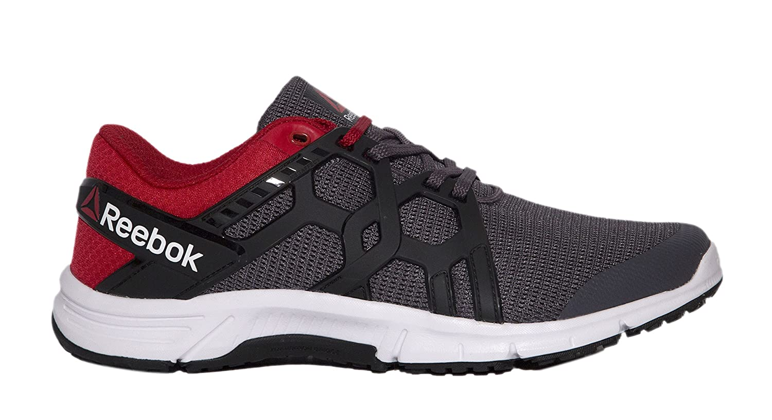 956a9e49eacee8 Reebok Men s Gusto Run Ash Grey Red Rush Wht Blk Running Shoes-8 UK India  (42 EU) (9 US) (BS6965)  Buy Online at Low Prices in India - Amazon.in
