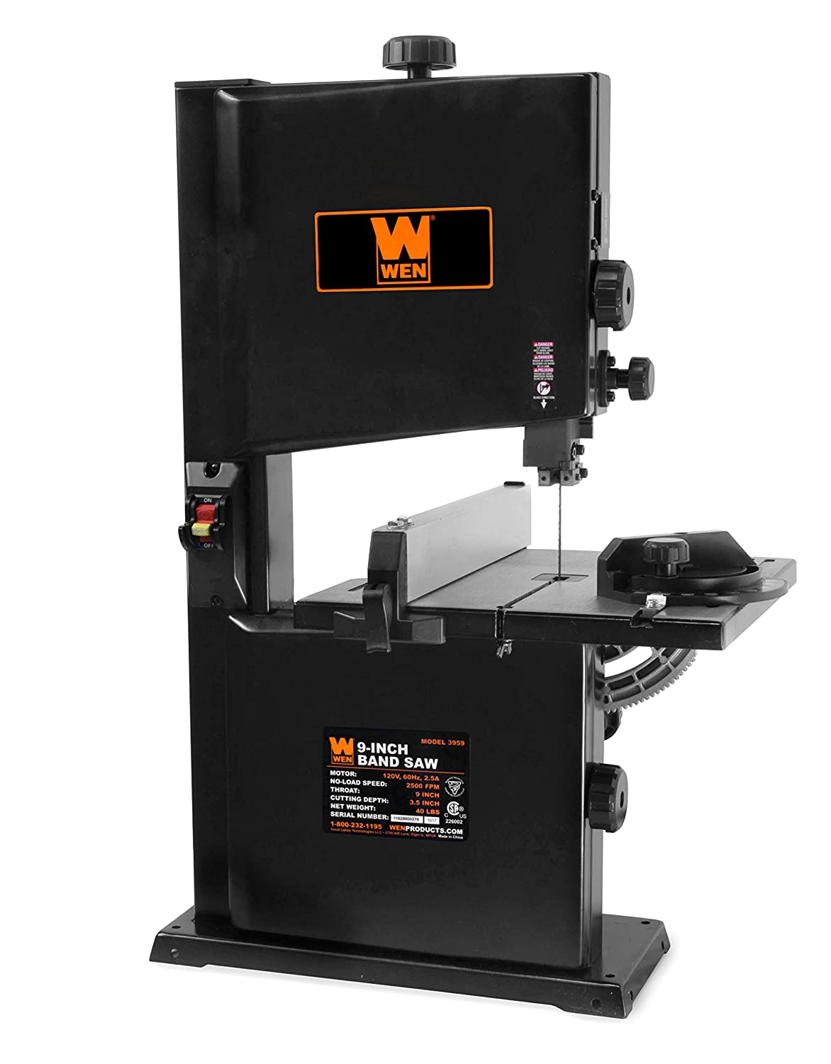 Wen 3959 2.5 Amp 9 Inch Benchtop Band Saw by Wen