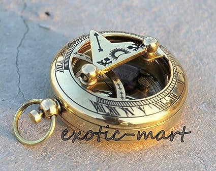 Lot of 24 Brass Push Button Sundial Compass Marine Gift