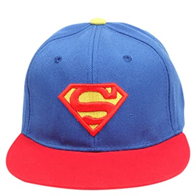8ca0cd2fb DRUNKEN Superman Embroidered Kid's Cotton Snapback Hip Hop Cap Blue and Red  Freesize: Amazon.in: Clothing & Accessories
