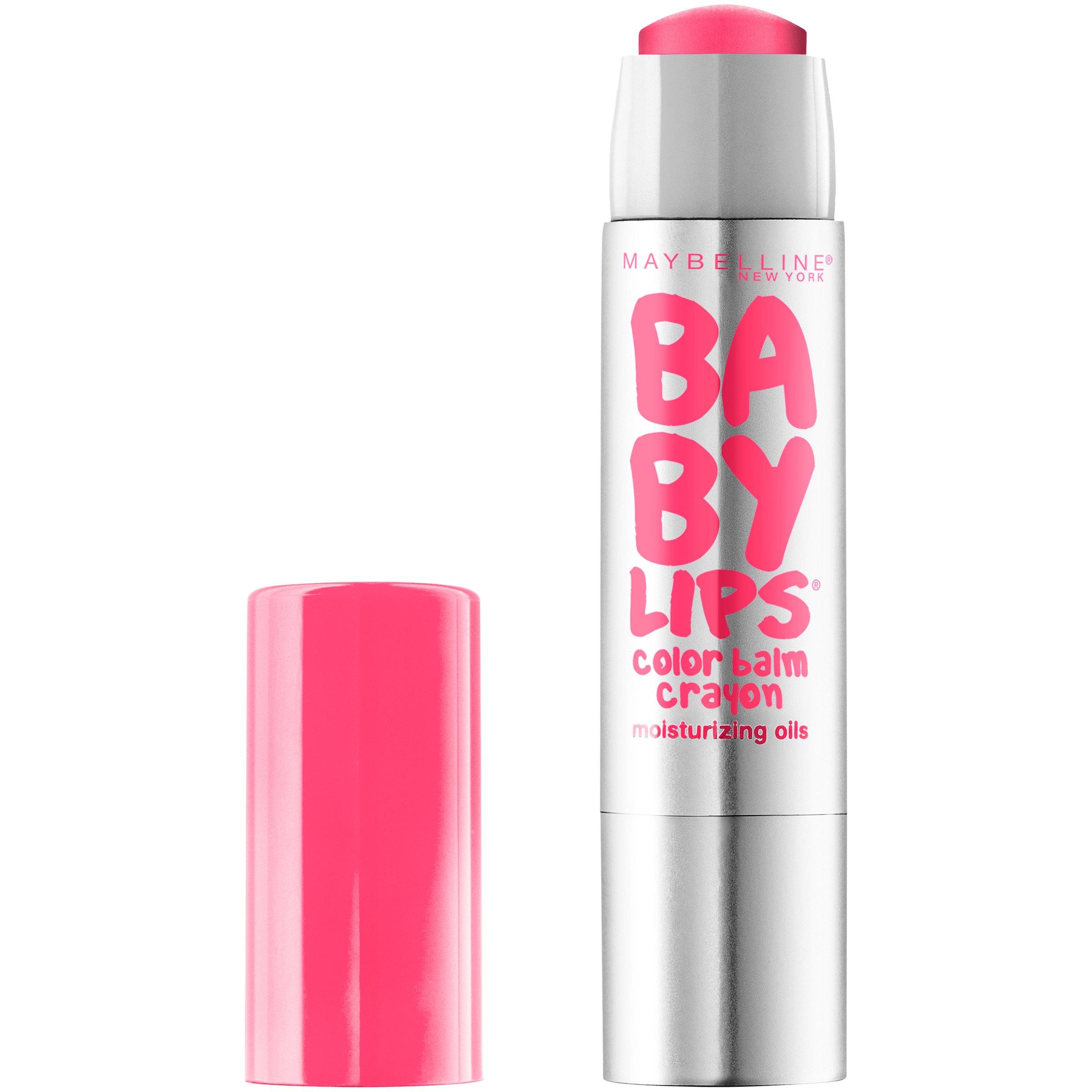 Maybelline Baby Lips Color Balm Crayon, Strawberry Pop, 0.09 oz.