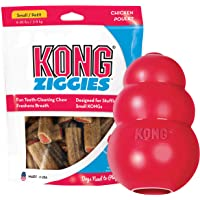 KONG - Classic and Ziggies - Dog Chew Toy with Dog Treats - for Small Dogs