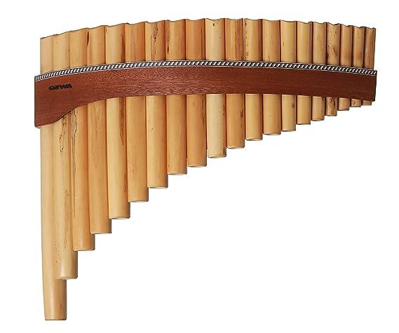 in 2 Größen erhältlich einfache gebogene Panflöte Panflöte aus Bambus braun