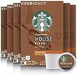 Starbucks Medium Roast K-Cup Coffee Pods — House Blend for Keurig Brewers, 10 Count (Pack of 6)