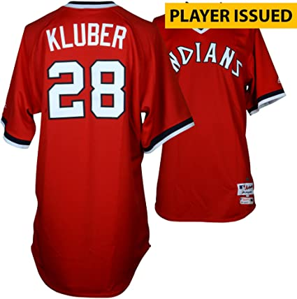 huge discount 19b37 49095 Corey Kluber Cleveland Indians Player-Issued #28 Red ...